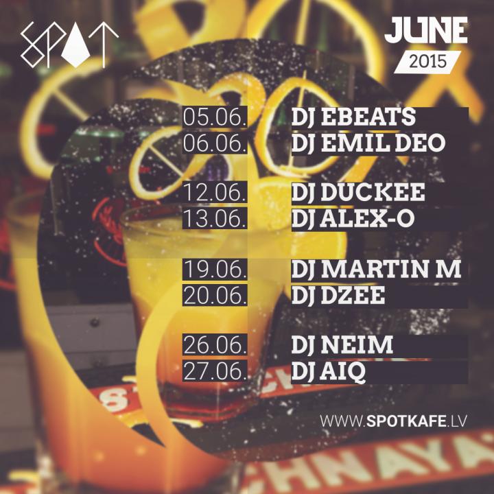 Spot Calendar - June 2015